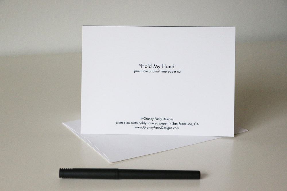 """Hold my Hand"" Card"