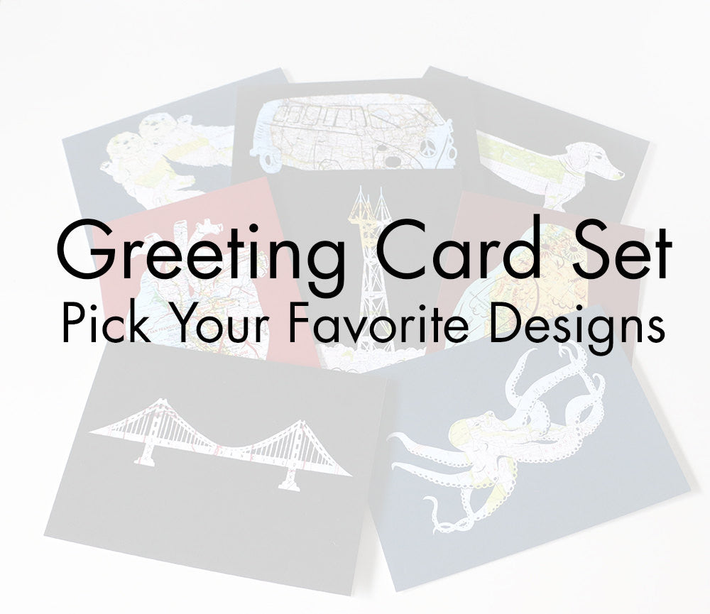 Map Card Set - Mix and Match Your Favorite Designs