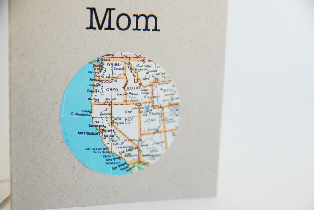 Worlds Best Mom Mini Map Card
