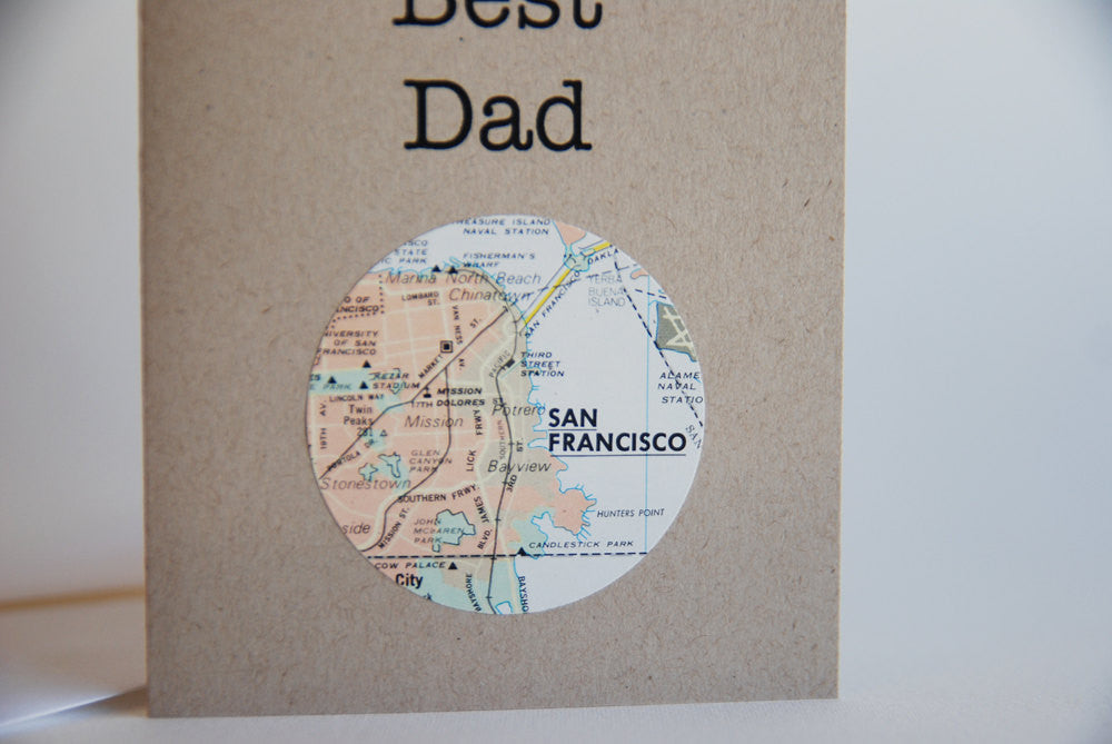 World's Best Dad Mini Map Card