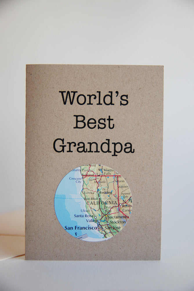 World's Best Grandpa Mini Map Card