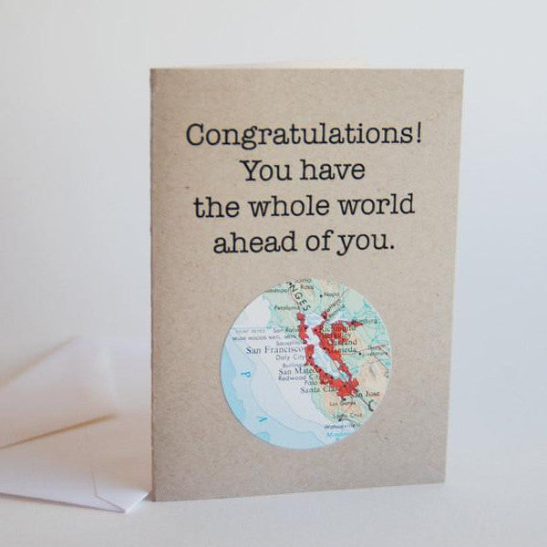 Congratulations Mini Map Card
