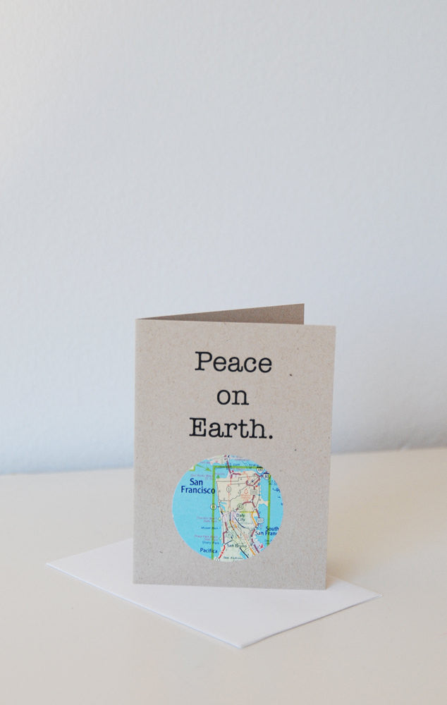 Peace on Earth Mini Map Card