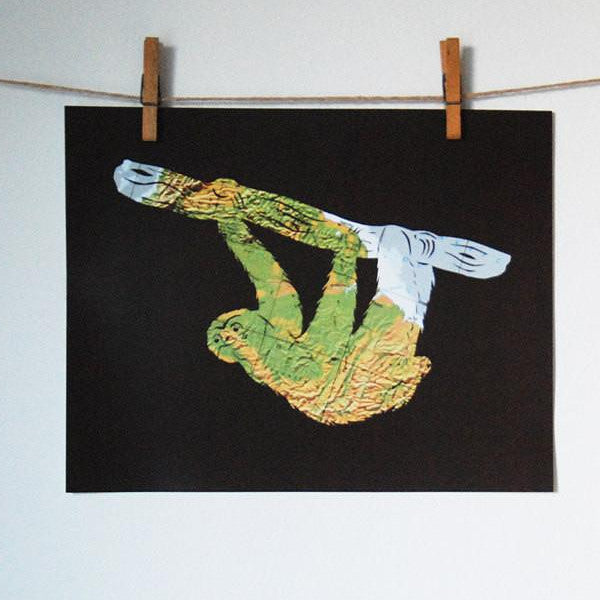 """Three Toed Sloth"" Print"