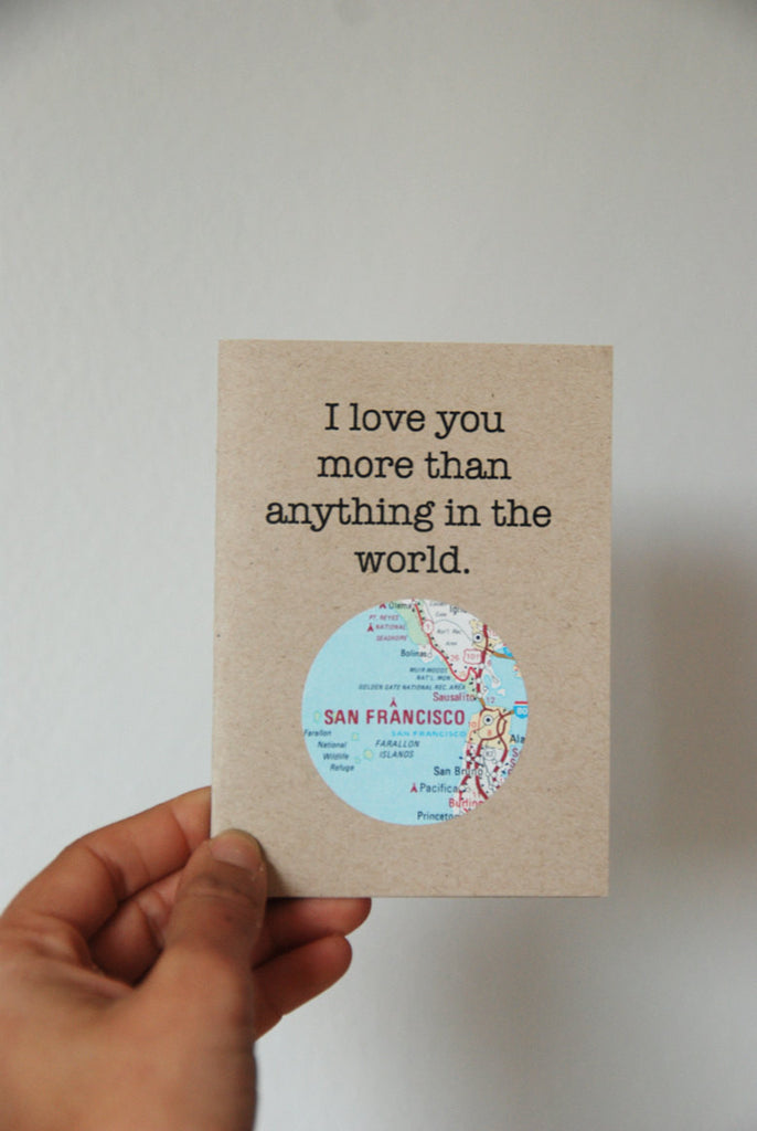 Love You More Mini Map Card