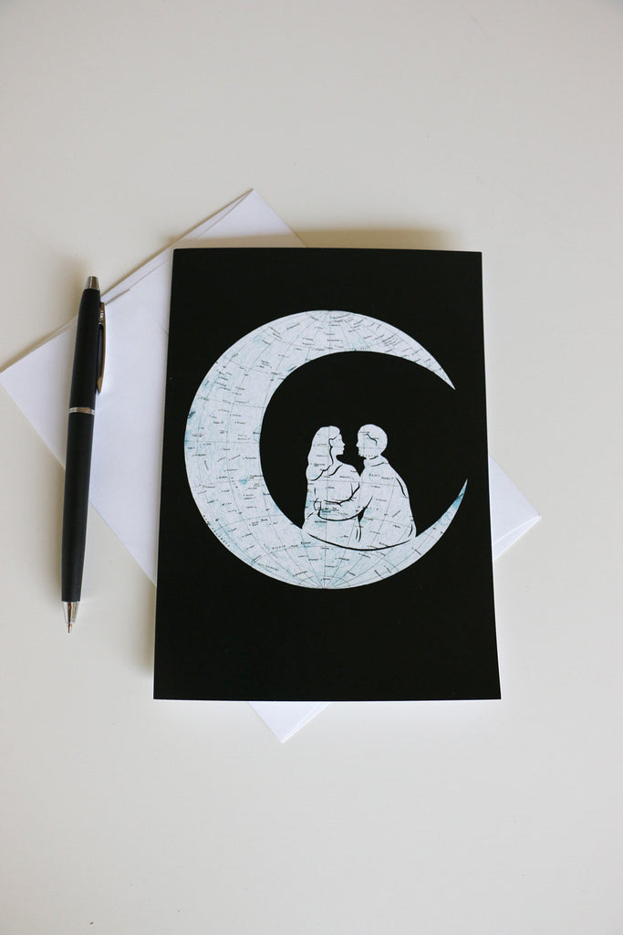 """To The Moon And Back"" Card"