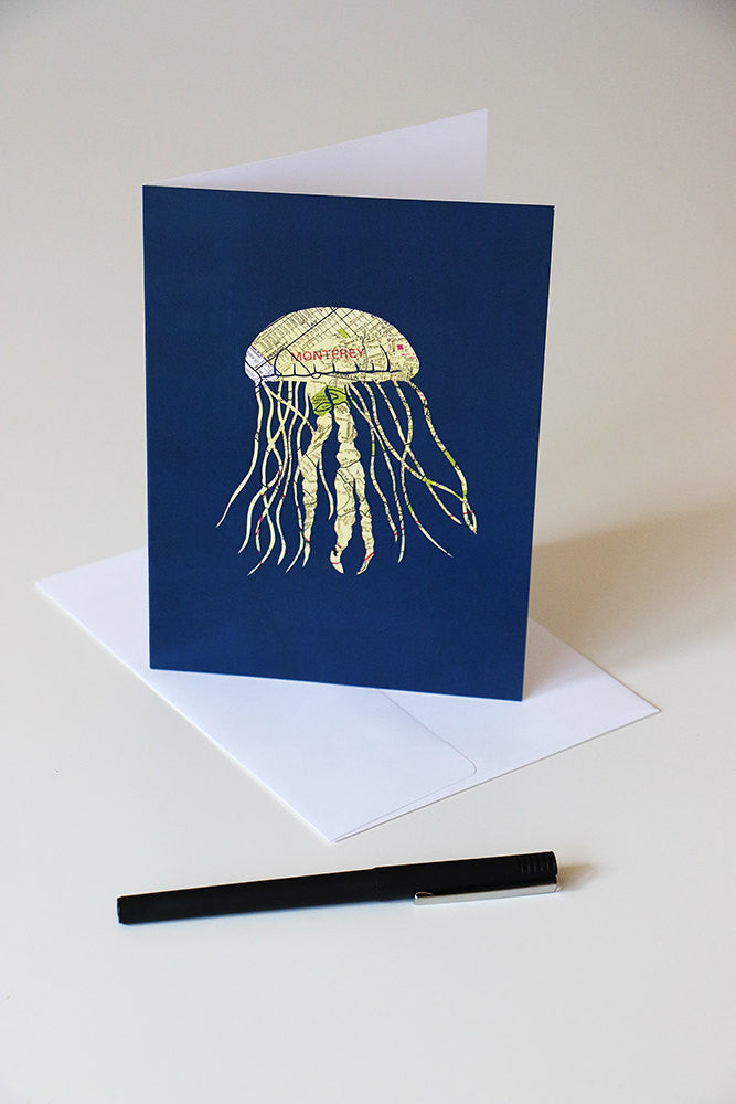 """Monterey Jellyfish"" Card"
