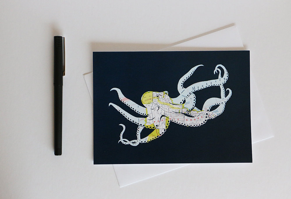 """Octopus By The Bay"" Card"