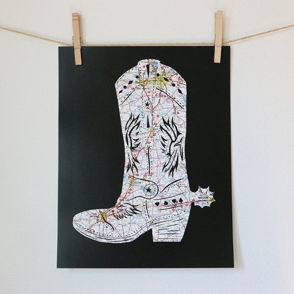 """Give 'em the Boot"" Print"