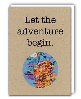 Let the adventure begin card by Granny Panty Designs