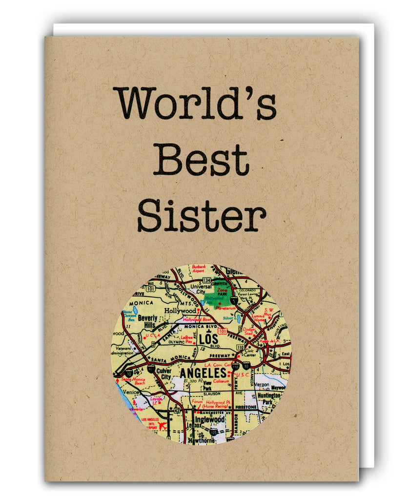 worlds best sister custom map card