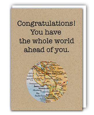 Congratulations map card by Granny Panty Designs