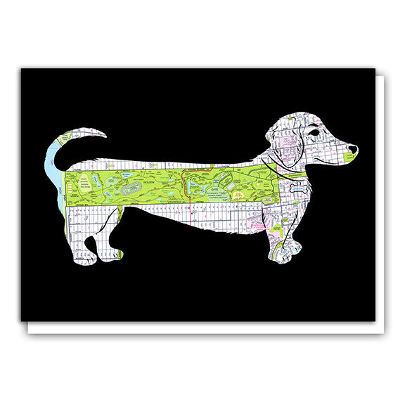 Weiner Daschund dog Golden Gate Park Map Card
