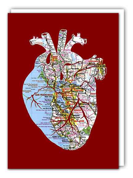 I left my heart in San Francisco greeting card by Granny Panty Designs