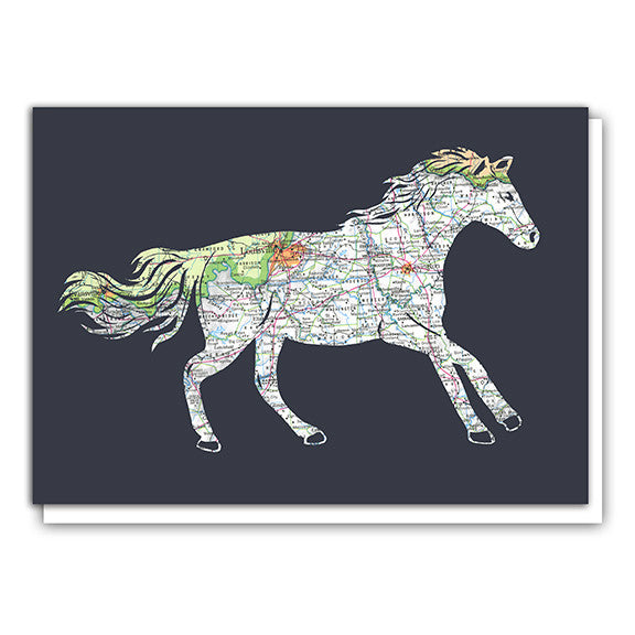 Louisville Kentucky Horse greeting card by Granny Panty Designs