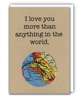 I love you custom map card by Granny Panty Designs