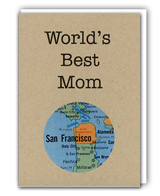 World's Best Mom map card by Granny Panty Designs