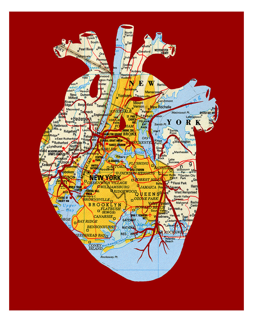 """Heart of New York"" Print"
