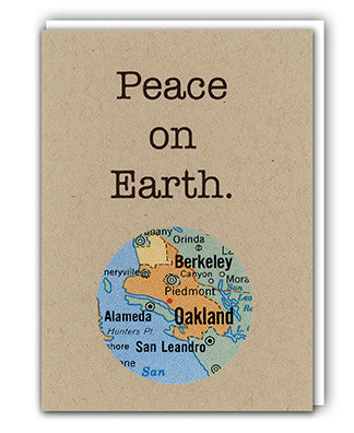 Peace on Earth map card by Granny Panty Designs