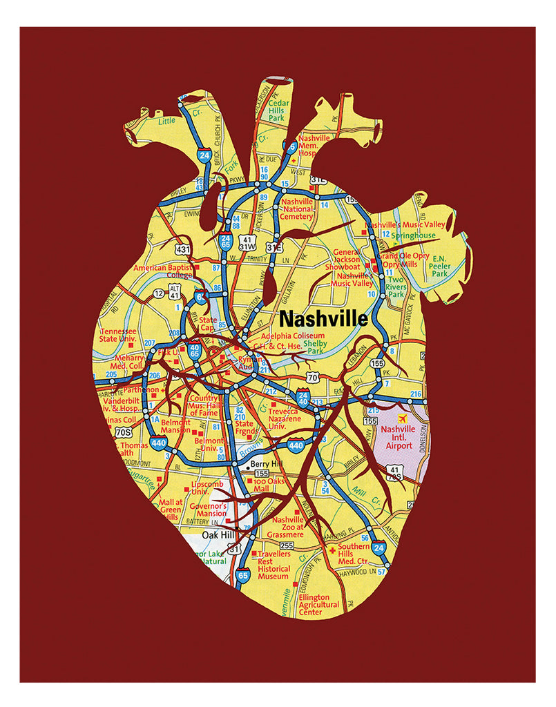 """Heart of Nashville"" Print"