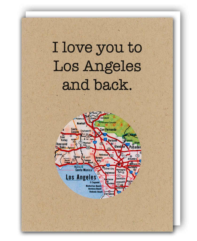I love los angeles map card