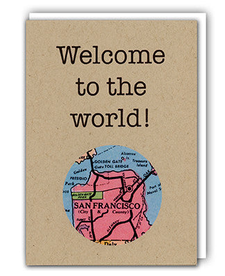 Welcome to the world mini map card granny panty designs welcome to the world map card by granny panty designs sciox Images