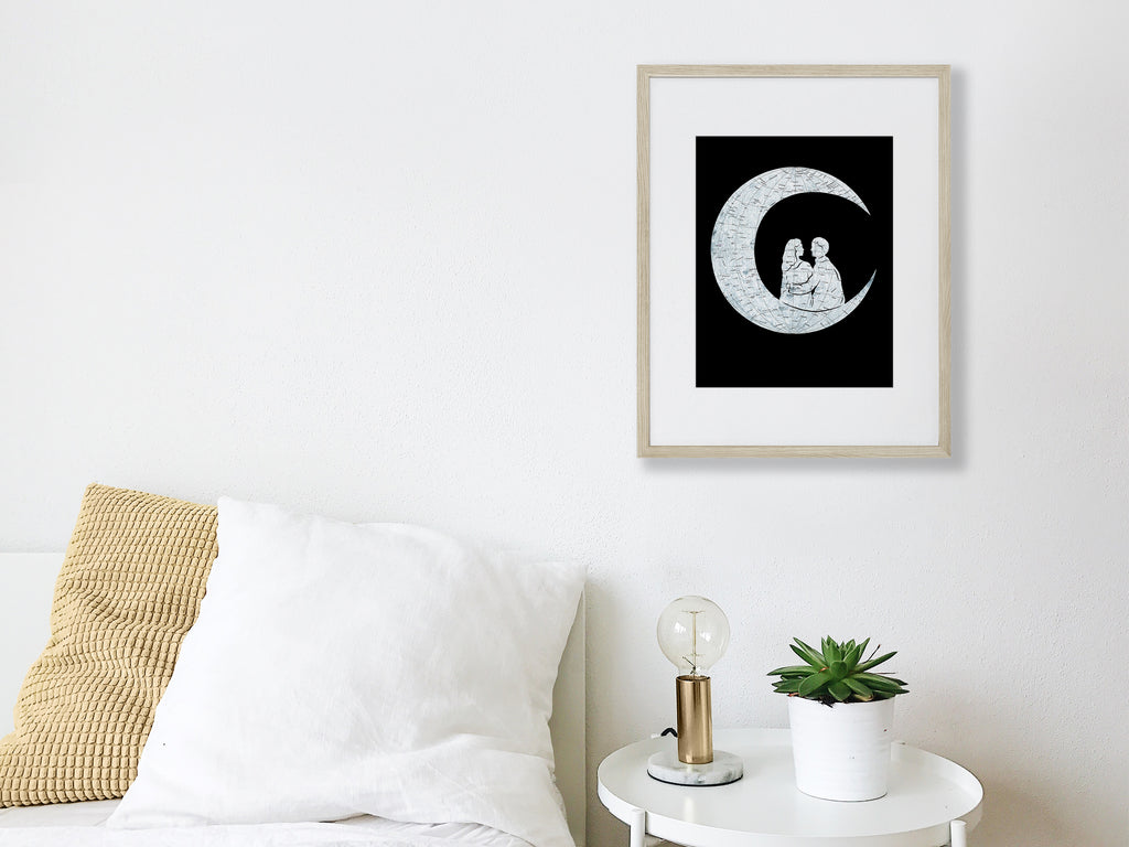 """To the Moon and Back"" Print"