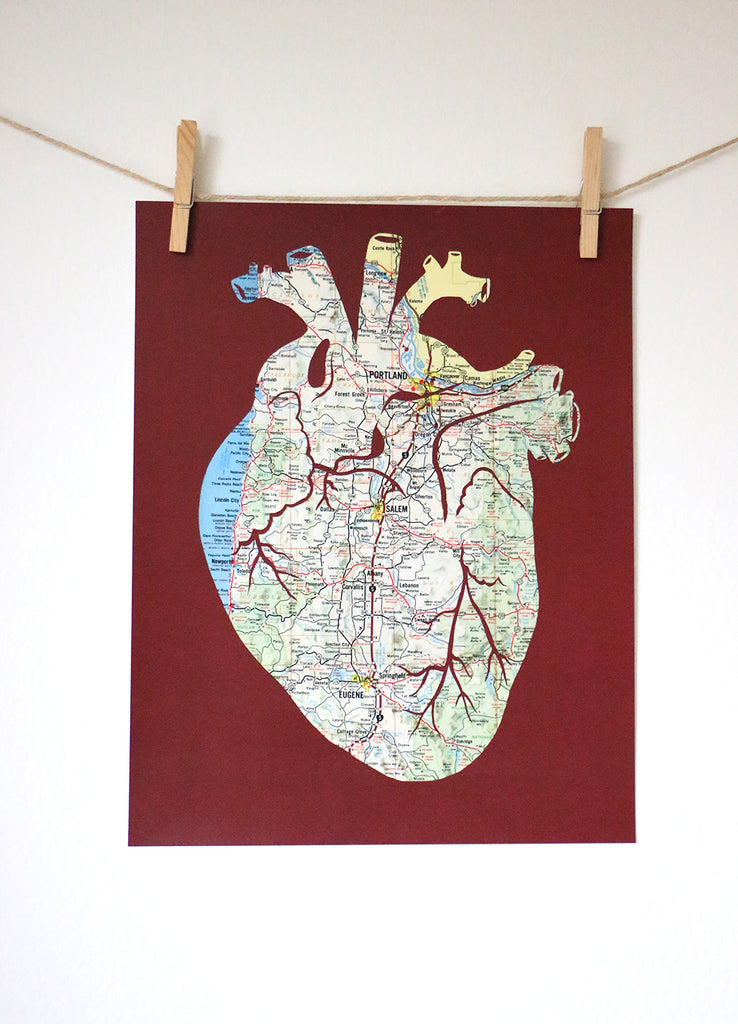"""Heart of Oregon"" Print"