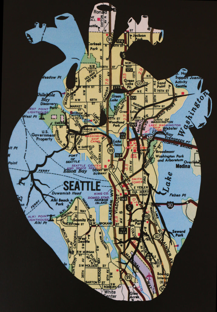 """Heart of Seattle"" Print"