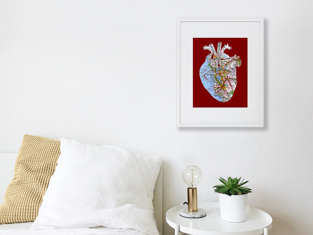 """Heart of The Bay"" Print"