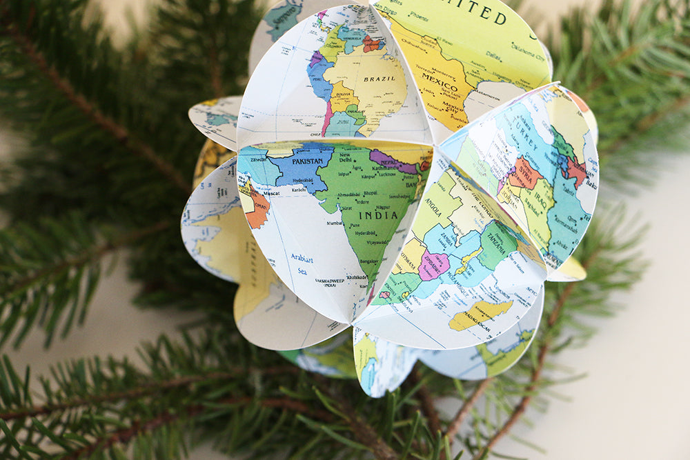 World Map Ornament