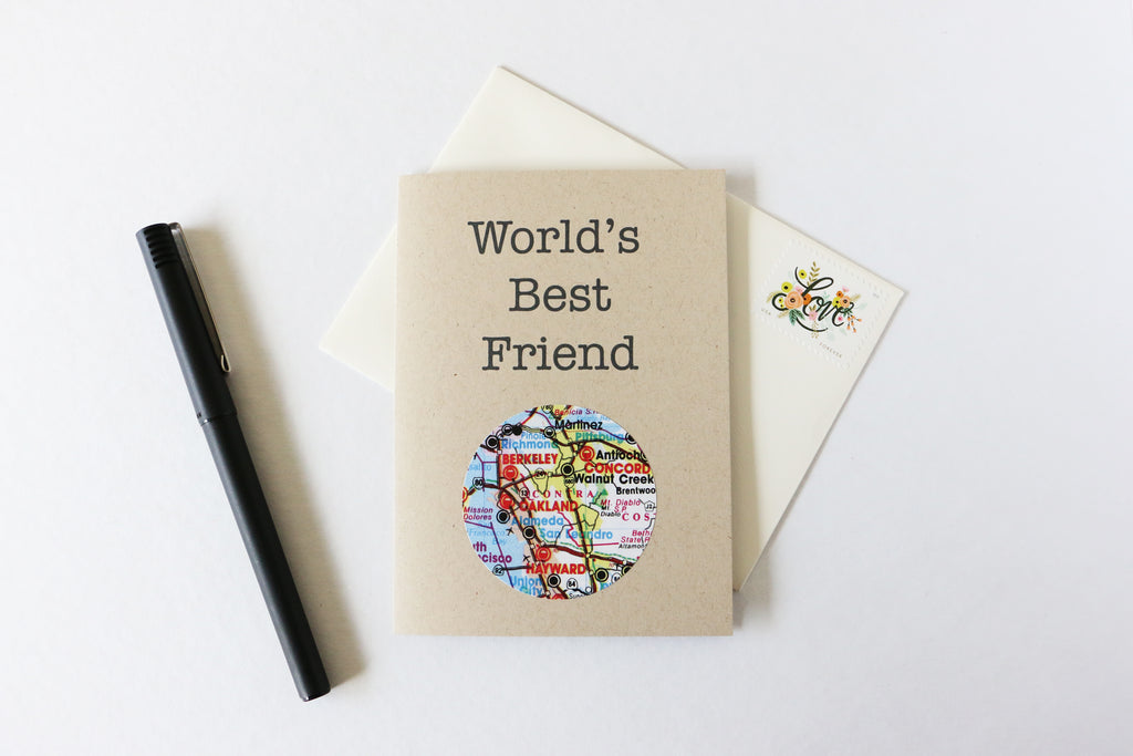World's Best Friend Mini Map Card