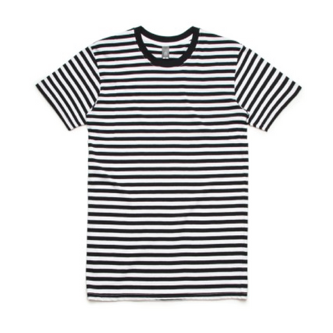 24 Screen Print Striped T-Shirts