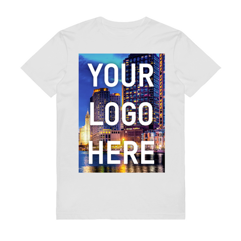 Custom White Full-Color T-Shirt
