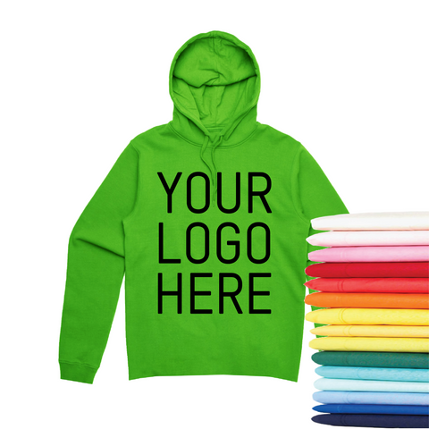 24 Pocketless Screen Print Hoodies