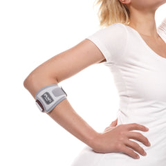 Push med Elbow Brace Epi reduces the pain of tennis or golfer's elbow.
