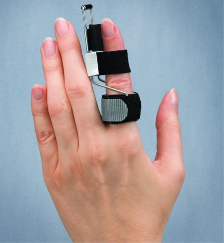 3pp Side Step Splint is an easy to wear finger splint that helps straighten fingers twisted sideways by injury or arthritis.