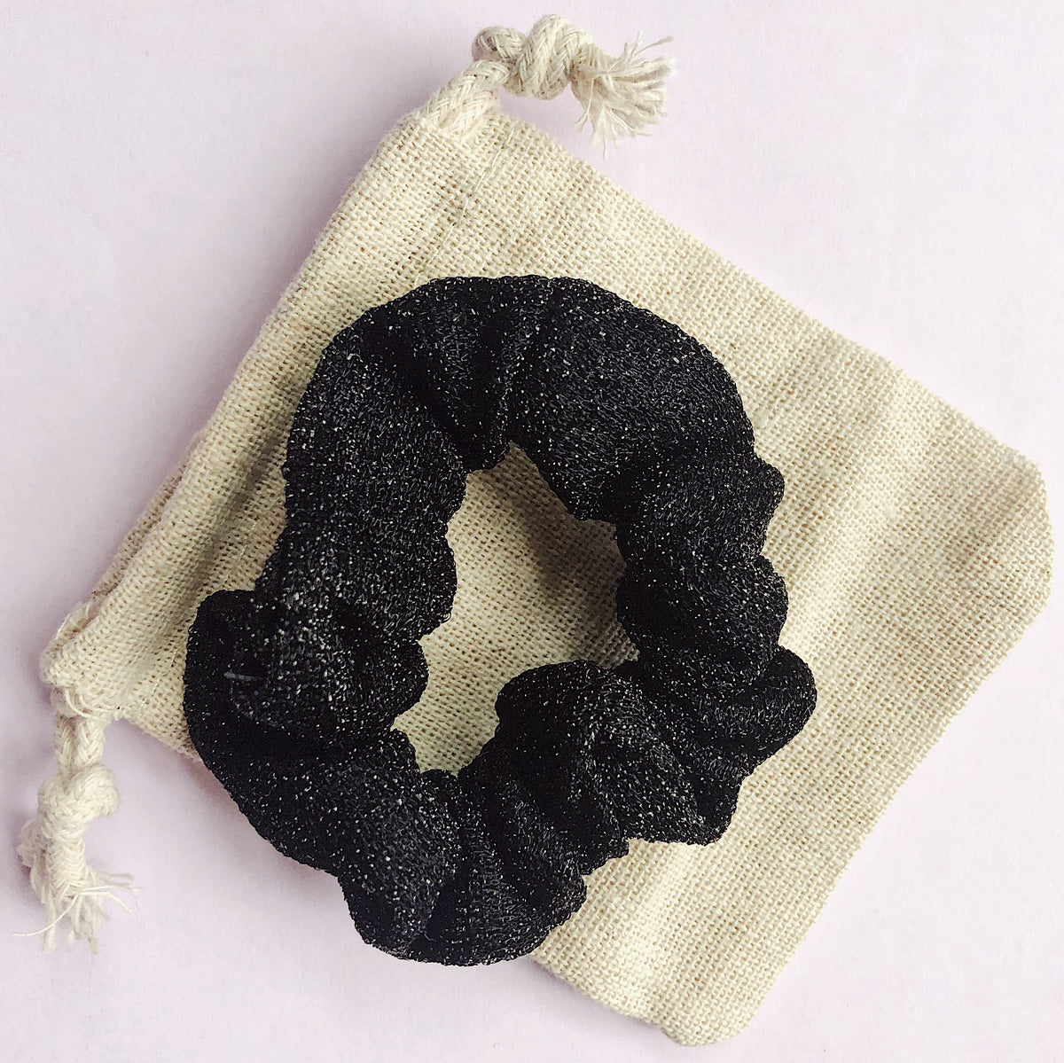 'BLACK' - Smaller Sparkle Scrunchie