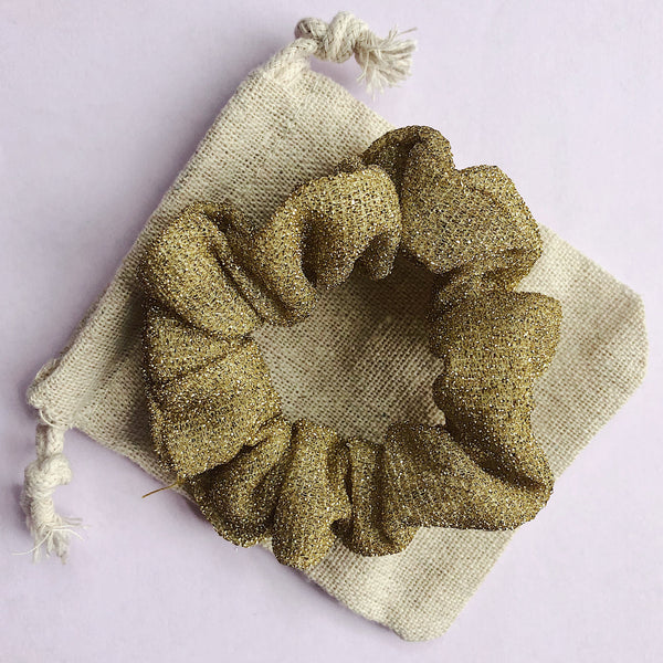 'GOLD' - Smaller Sparkle Scrunchie