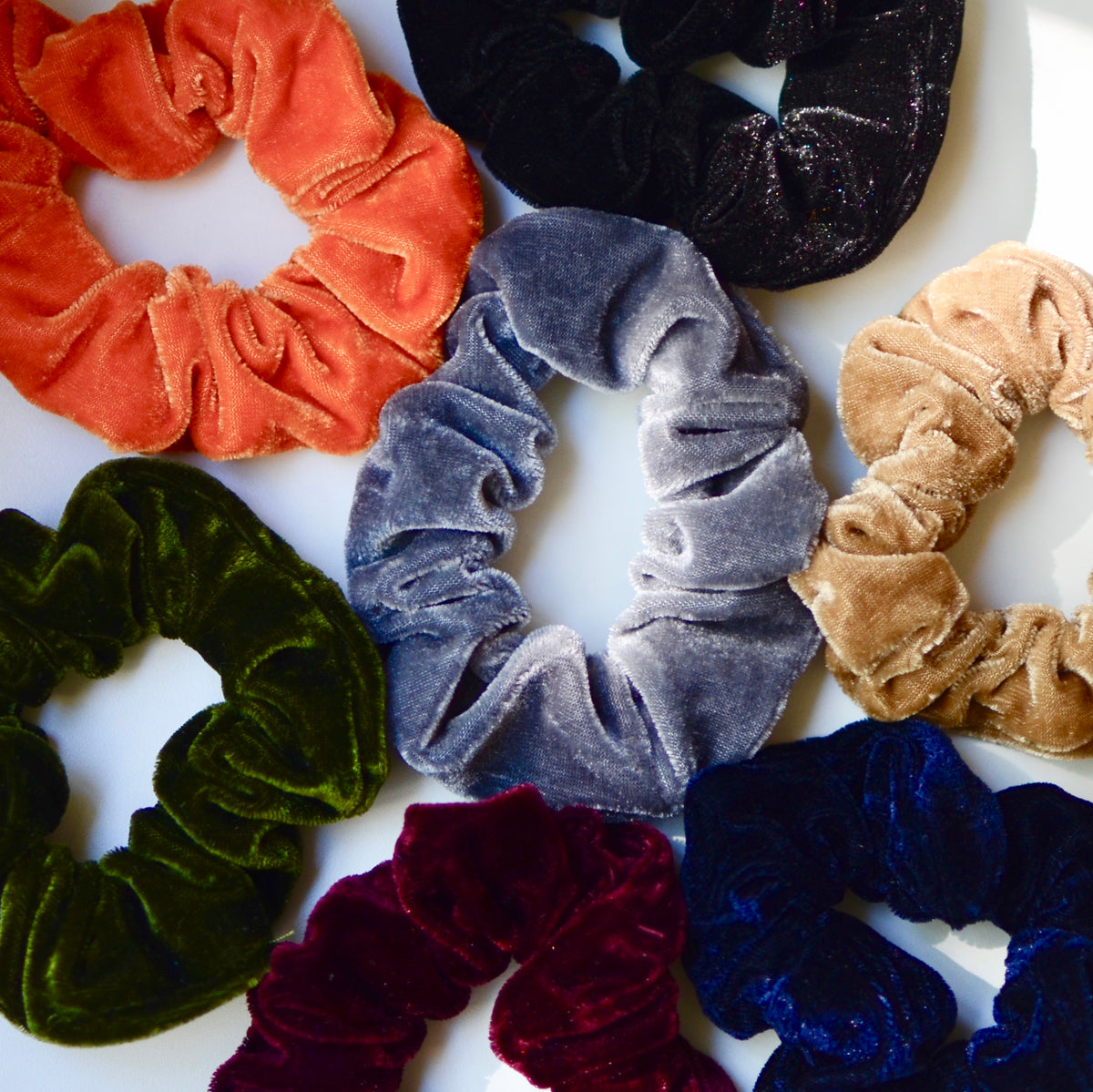 3 scrunchies for $20!