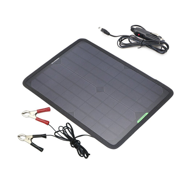 12V 10W Portable Solar Panel Battery Maintainer Charger