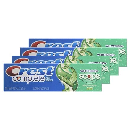 Crest Complete Whitening Scope Minty Fresh Toothpaste Travel Size 0.85 (4 packs)