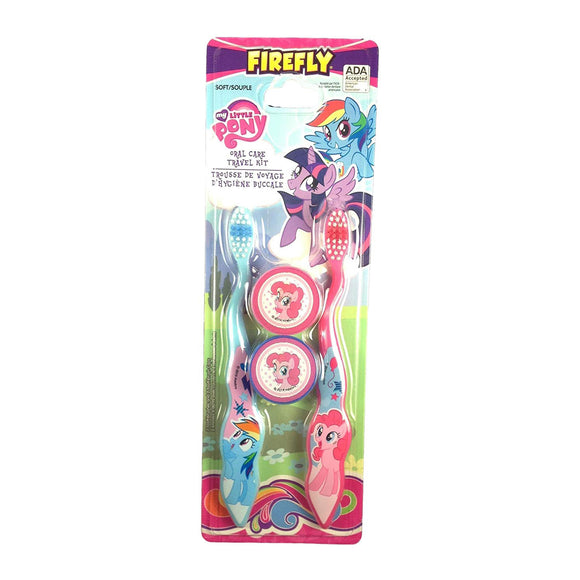 Firefly My Little Pony 2 Toothbrush Oral Travel Care Set