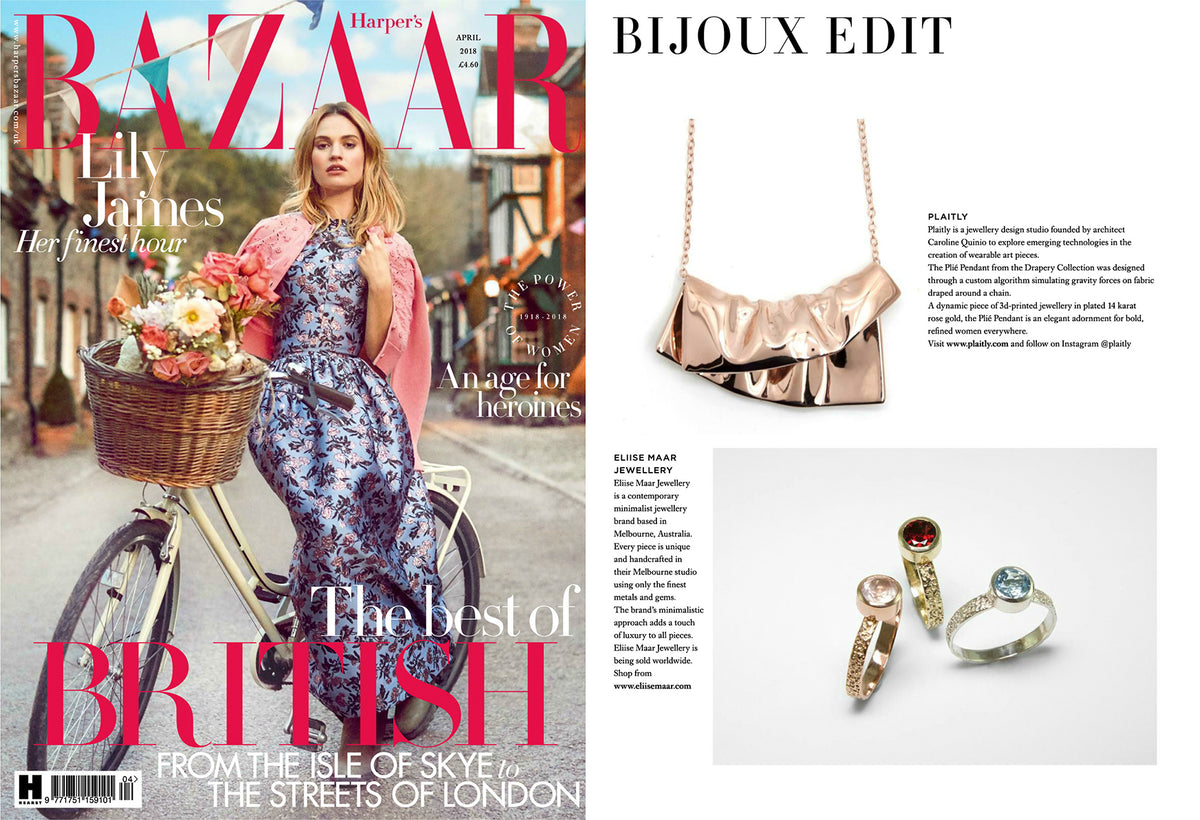 PLAITLY in Harper's Bazaar UK