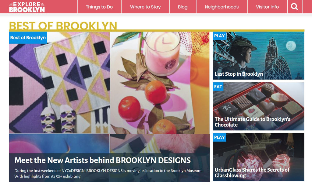 Explore Brooklyn Blog features PLAITLY at Brooklyn Designs