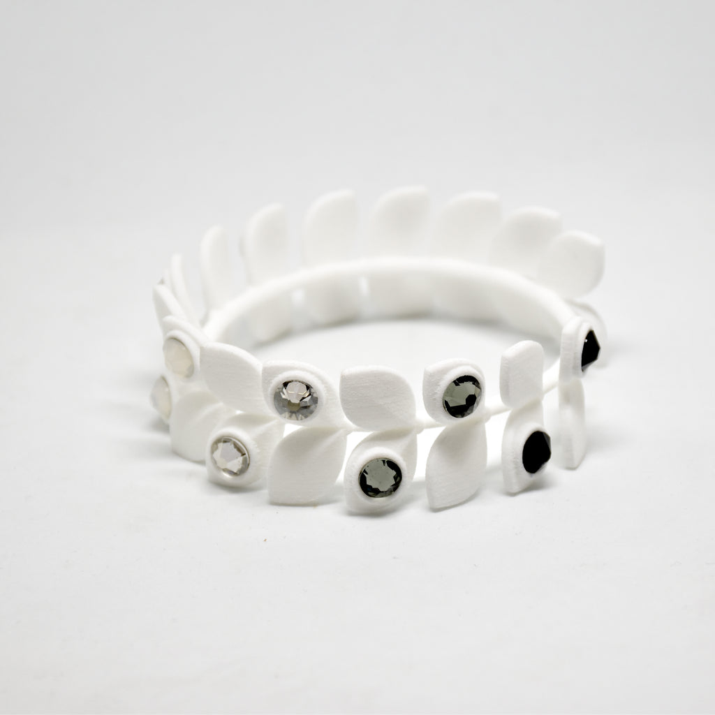 Dewdrop Bracelet in White