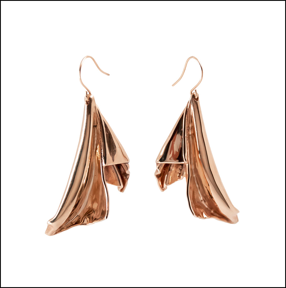 En l'Air Statement Earrings in 18 Karat Rose Gold