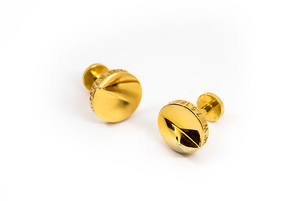 Heliodon Cuff Links in Gold