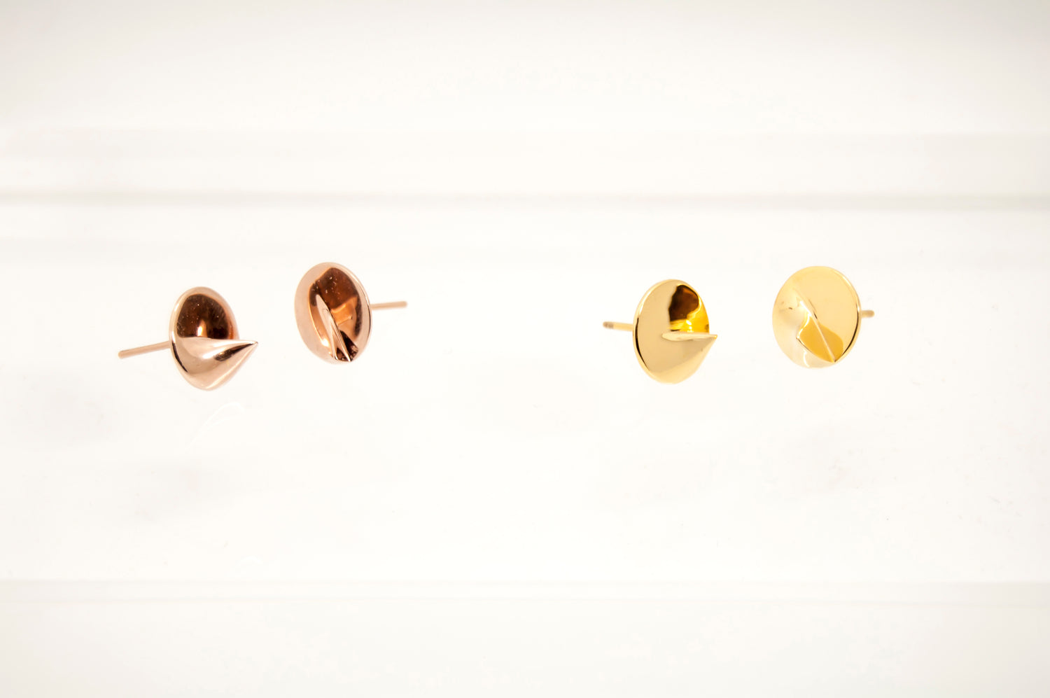 Heliodon Stud Earrings in Rose Gold