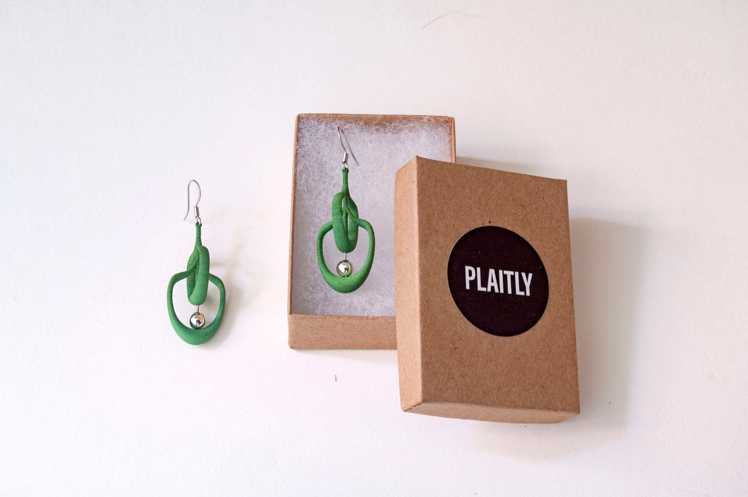 Petal Earrings in Green